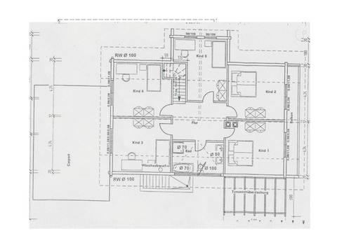 Grundriss Obergeschoss Holzhaus Familienglück von Fullwood Wohnblockhaus
