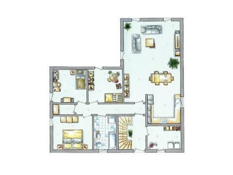 Grundriss Erdgeschoss Haus Generation 1 von allkauf haus