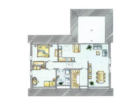 Grundriss Obereschoss Haus Generation 1 von allkauf haus