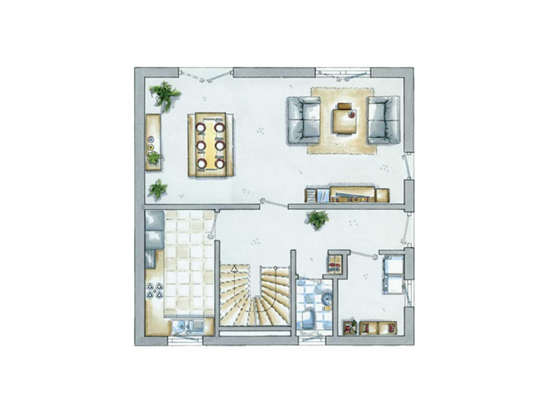 Grundriss Erdgeschoss Einfamilienhaus Life 4 von allkauf haus