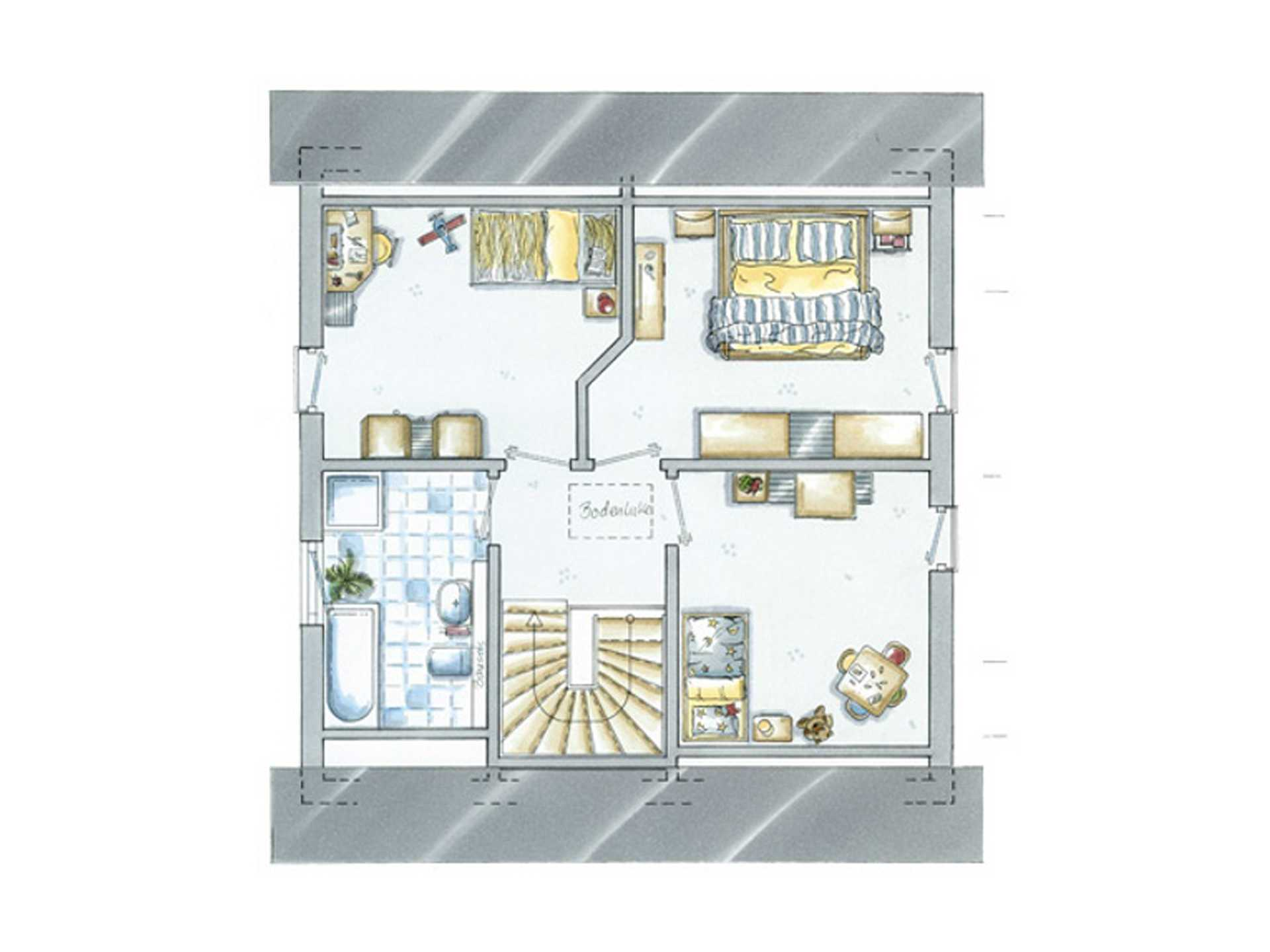Grundriss Obergeschoss Einfamilienhaus Life 4 von allkauf haus