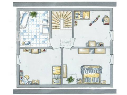 allkauf Einfamilienhaus Life 14 Grundriss Dachgeschoss