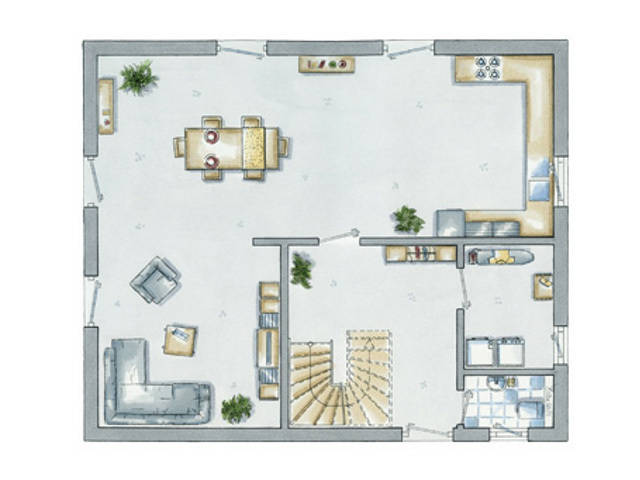 allkauf Einfamilienhaus Life 14 Grundriss Erdgeschoss