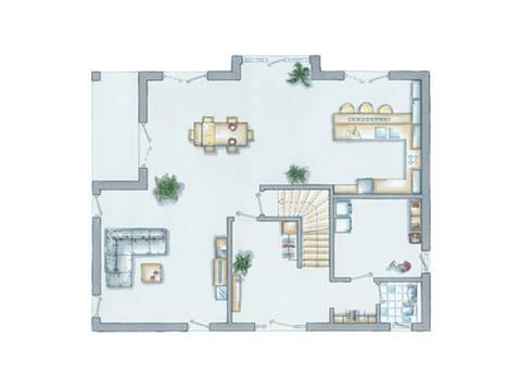 Grundriss Erdgechoss Haus Prestige 1 von allkauf haus