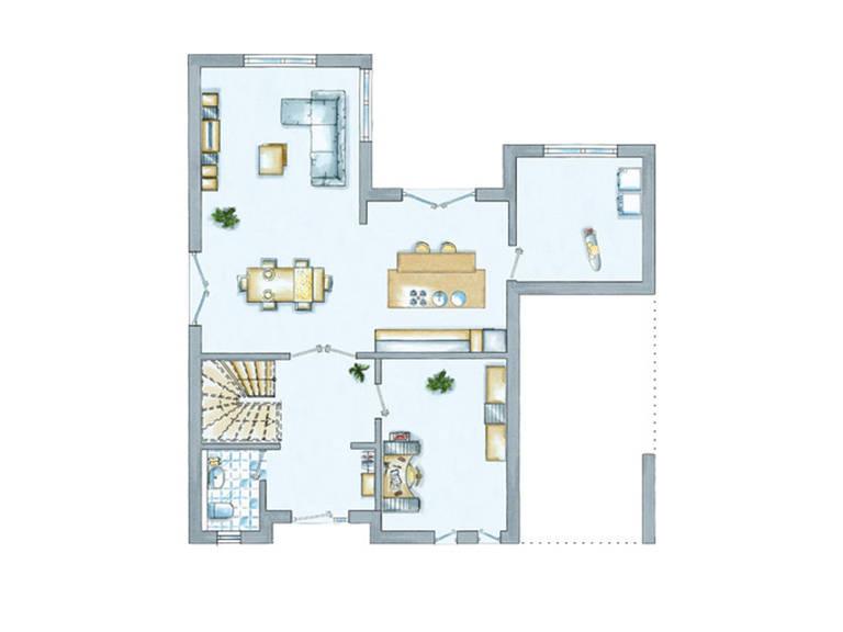 Grundriss Erdgeschoss EInfamilienhaus Cult 1 von allkauf haus