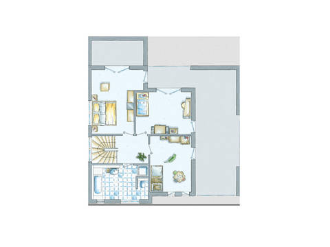Grundriss Obergeschoss EInfamilienhaus Cult 1 von allkauf haus