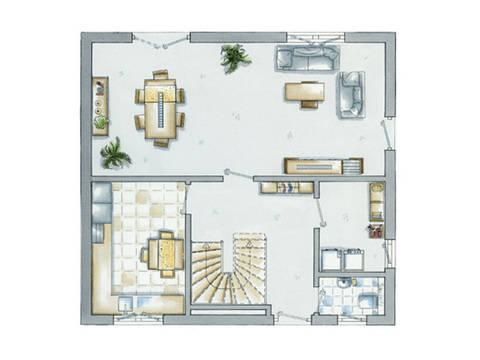 allkauf Einfamilienhaus Life 5 Grundriss Erdgeschoss