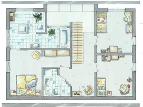 allkauf Einfamilienhaus Trendline 1 Grundriss Dachgeschoss
