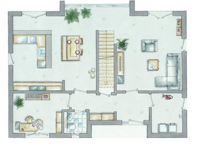 allkauf Einfamilienhaus Trendline 1 Grundriss Erdgeschoss
