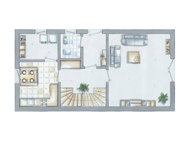 allkauf Doppelhaus Double 2 Grundriss Erdgeschoss