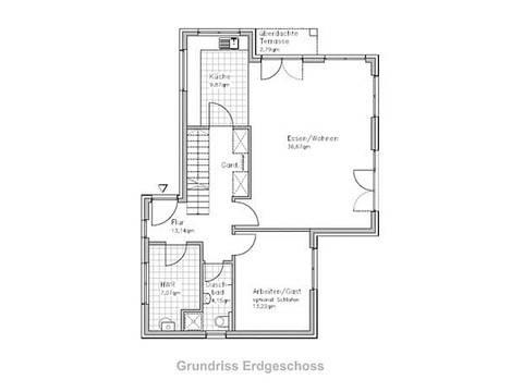Stadthaus-S150 Erdgeschoss