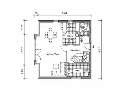 Landhaus LA-138 - NURDA-Hausbau Grundriss EG