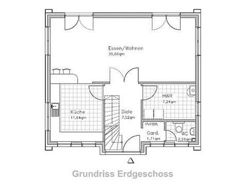 Stadthaus-S130 Erdgeschoss