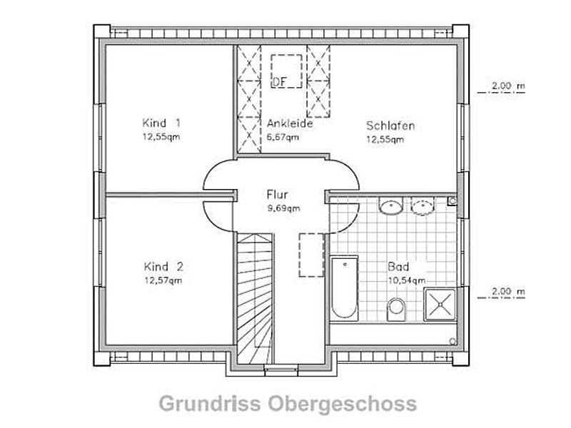 Stadthaus-S130 Obergeschoss