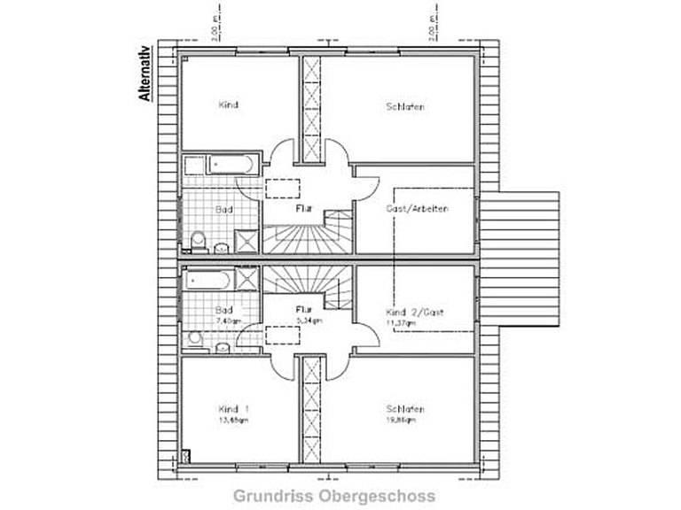 Doppelhaus DH 120/30 Obergeschoss