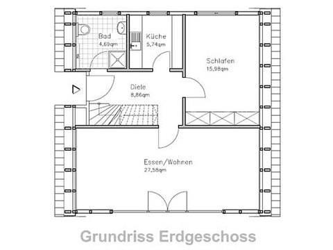 Nurdach AB-3 Erdgeschoss