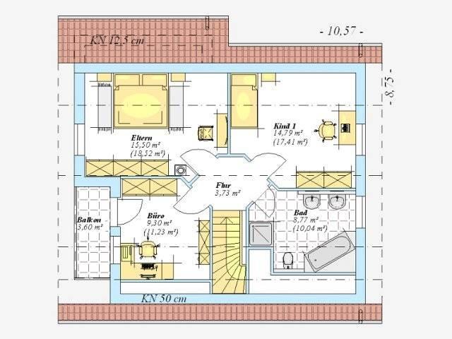 Trendhaus Ökovital 6 Grundriss Dachgeschoss