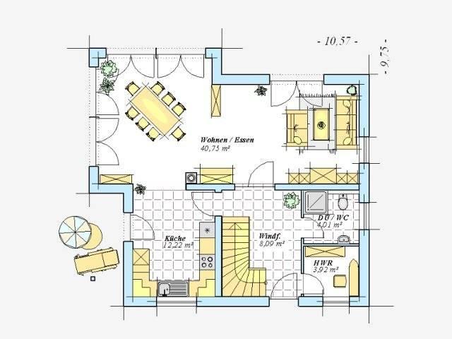 Trendhaus Ökovital 6 Grundriss Erdgeschoss