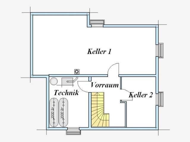 Trendhaus Ökovital 6 Grundriss Keller