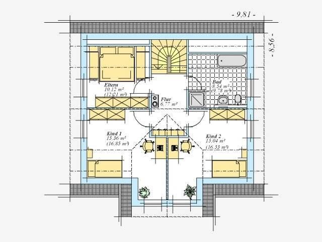 Trendhaus Ökovital 8 Grundriss Dachgeschoss