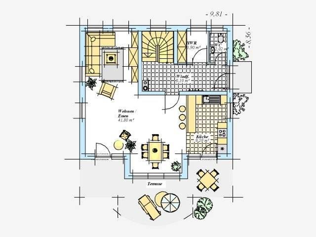 Trendhaus Ökovital 8 Grundriss Erdgeschoss