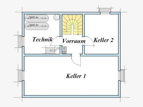 Trendhaus Ökovital 8 Grundriss Keller