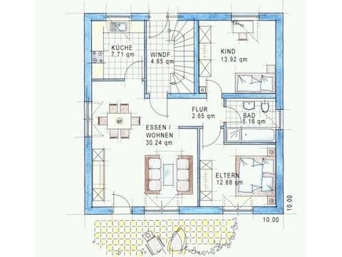Trendhaus Ökovital 10 Grundriss Erdgeschoss