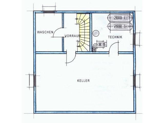 Trendhaus Ökovital 10 Grundriss Keller