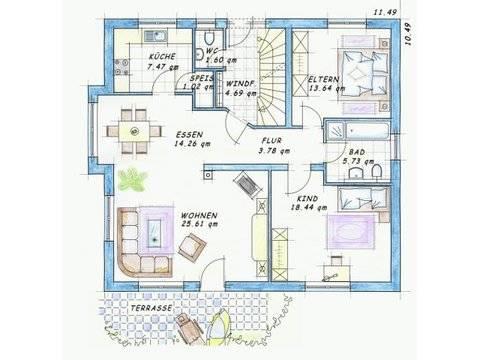 Trendhaus Ökovital 20 Grundriss Erdgeschoss