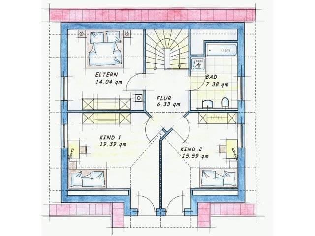 Variante 1 Grundriss Dachgeschoss