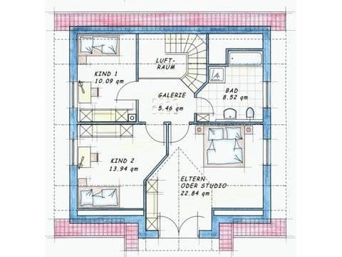 Variante 2 Grundriss Dachgeschoss