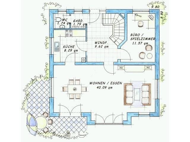 Variante 2 Grundriss Erdgeschoss