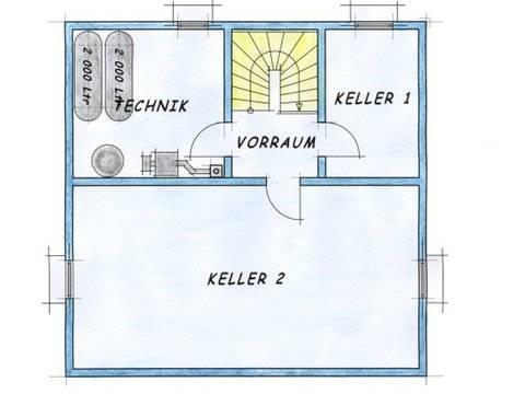 Variante 1 Grundriss Keller