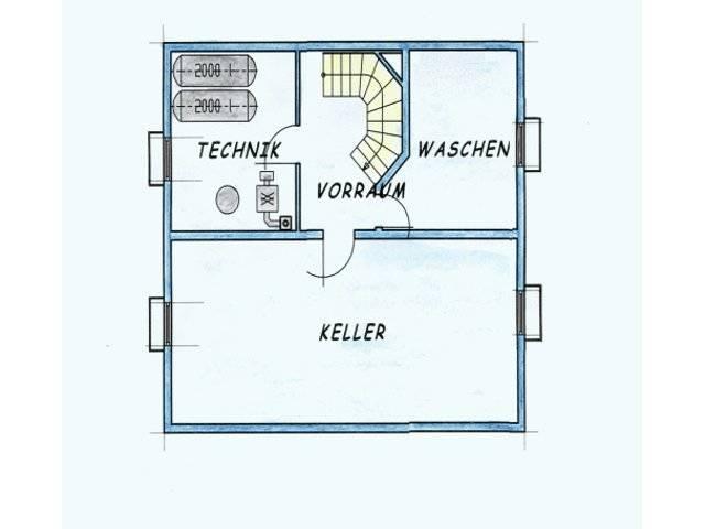 Variante 2 Grundriss Keller