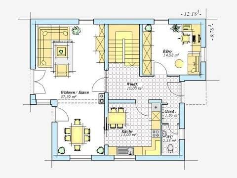 Trendhaus Ökovital 39 Grundriss Erdgeschoss