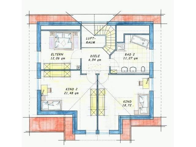 Trendhaus Ökovital 40 Grundriss Dachgeschoss