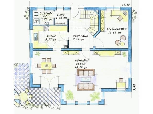Trendhaus Ökovital 40 Grundriss Erdgeschoss