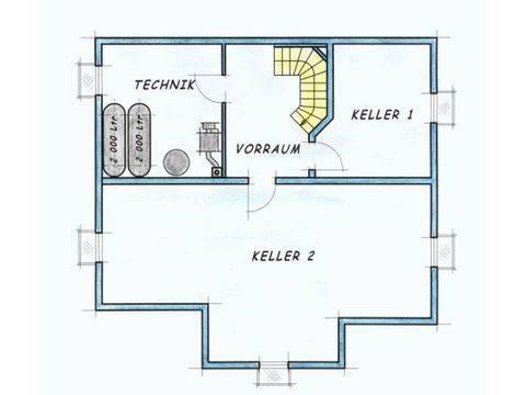 Trendhaus Ökovital 40 Grundriss Keller