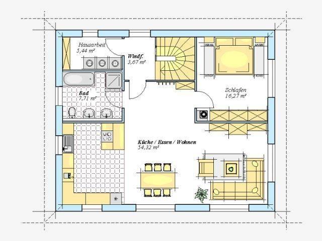 Trendhaus Ökovital 52 S Grundriss Dachgeschoss
