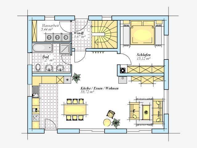 Trendhaus Ökovital 52 S Grundriss Erdgeschoss