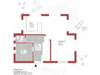 Einfamilienhaus Komposition Grundriss Erdgeschoss