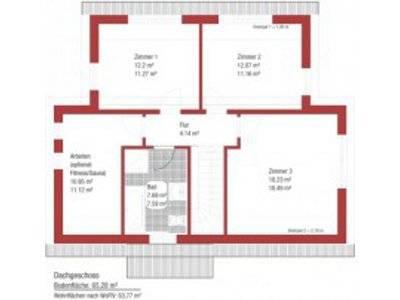 Einfamilienhaus Komposition Grundriss Obergeschoss
