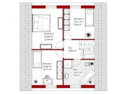 Einfamilienhaus Village Grundriss Obergeschoss