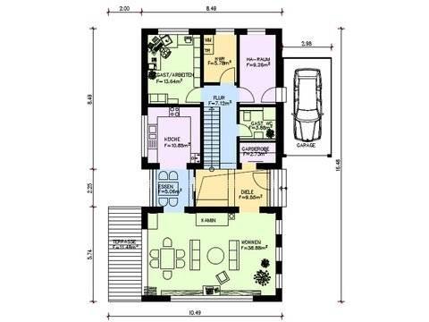 Bauhaus Stimmo Bach 6 Grundriss Erdgeschoss