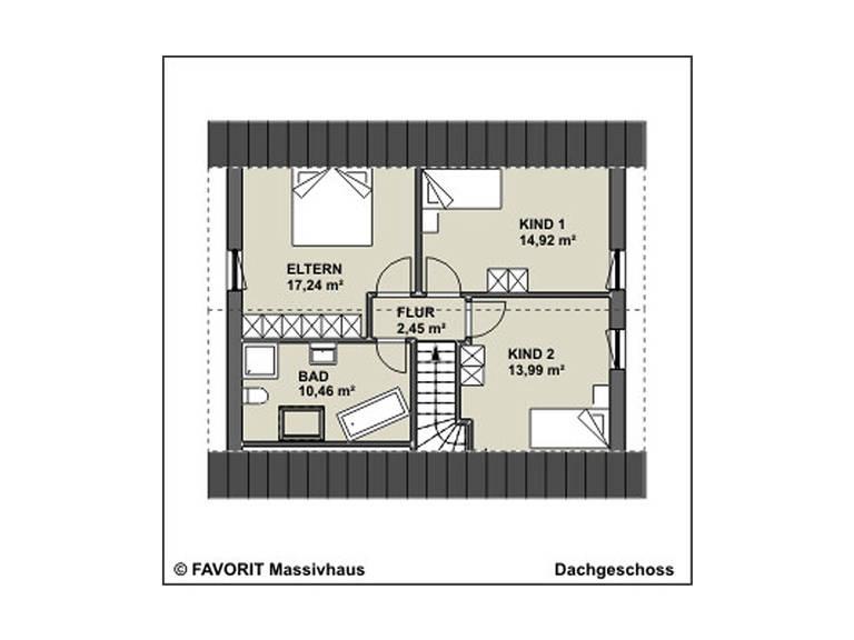 Kompliment 126 Grundriss Dachgeschoss