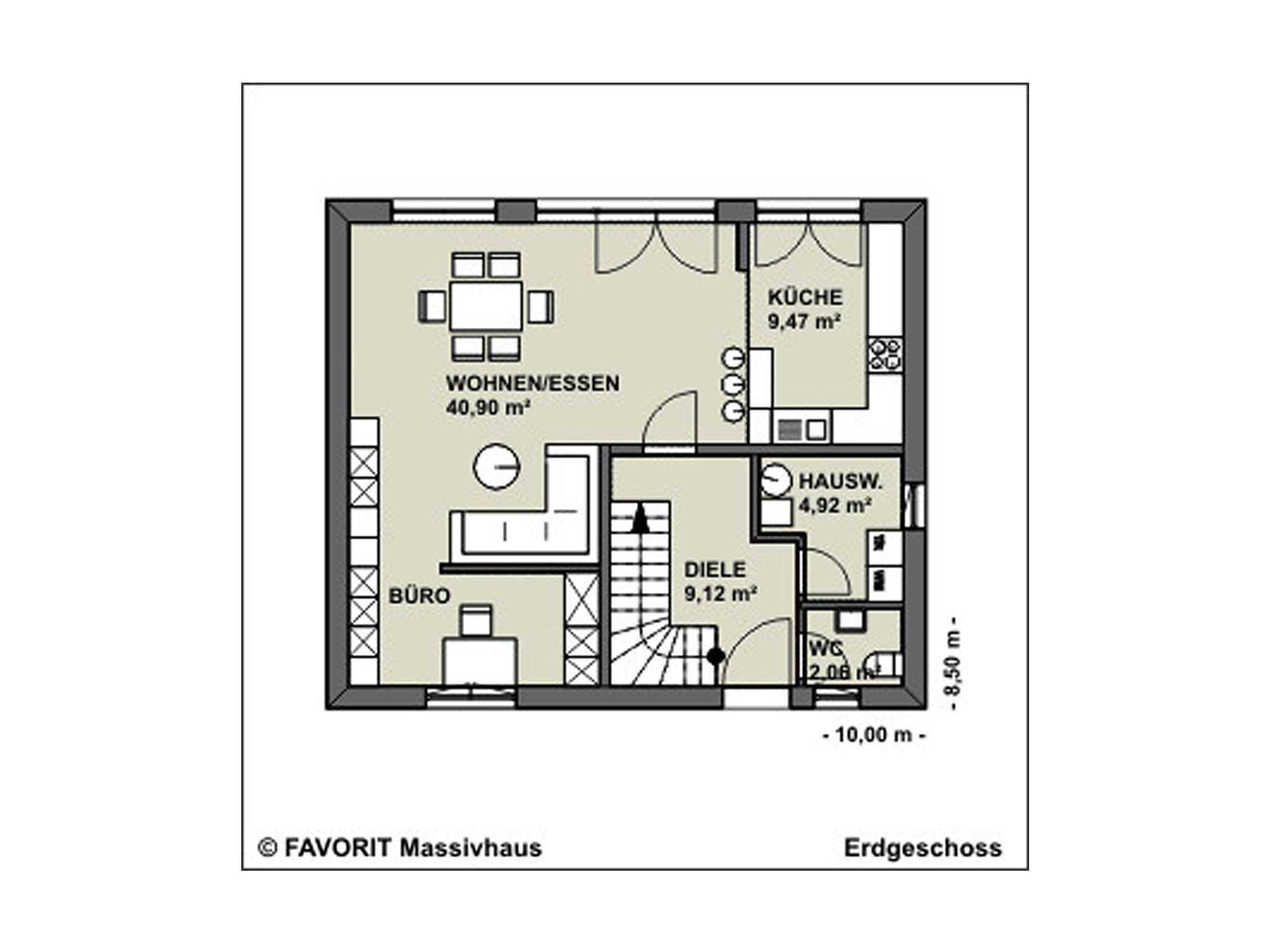 Kompliment 126 Grundriss Erdgeschoss