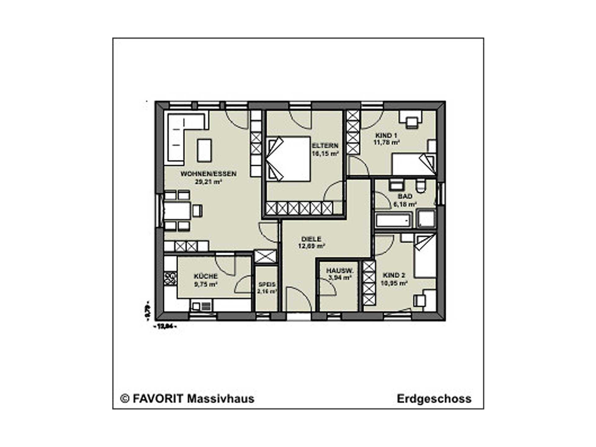Chalet 103 Grundriss Erdgeschoss
