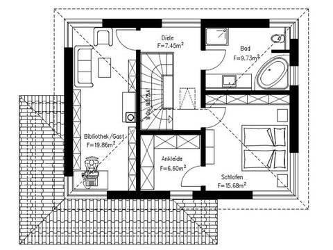 Einfamilienhaus Stimmo City 137 Grundriss Obergeschoss