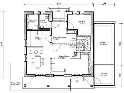 Einfamilienhaus Stimmo City 130 Grundriss Erdgeschoss