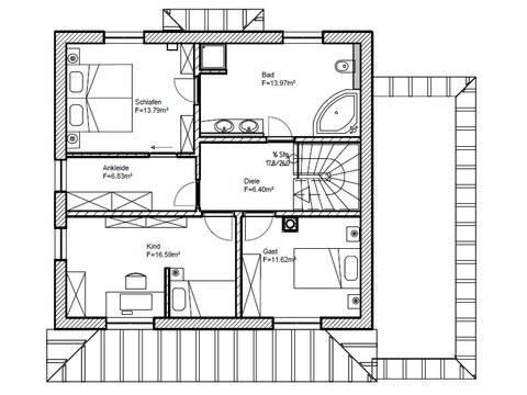 Einfamilienhaus Stimmo City 130 Grundriss Dachgeschoss
